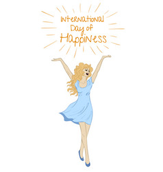 Sketch of happy woman vector