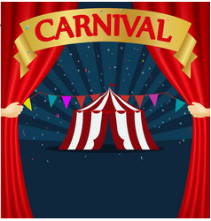 Carnival and circus tent poster vector