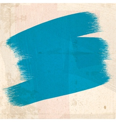 Grungy blue paint strokes vector