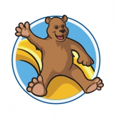happy bear vector image