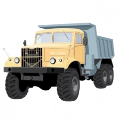 dump truck vector image