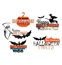 Halloween party designs set vector