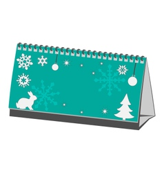 Cyan christmas calendar isolated on white vector