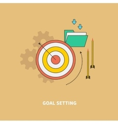 Beginning of the business process is goal setting vector