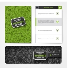 Template with hand drawn doodles business vector