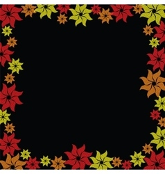 Flower burst on black background vector