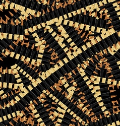 Bandolier tape bullets seamless pattern military vector