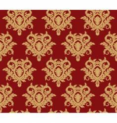damask floral background vector image