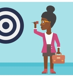Businesswoman and target board vector image