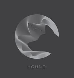 Abstarct dog sign emblem or logo template vector