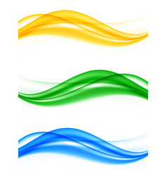Abstract elegant wavy lines set vector