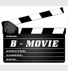 B movie clapperboard vector