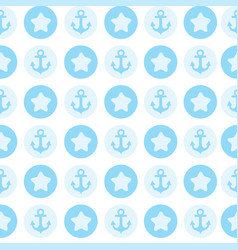 blue pattern the anchor for textile or card vector image vector image