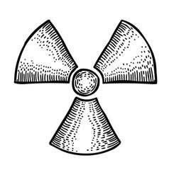 cartoon image of radio active icon radioactive vector image