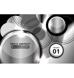 circle modern metallic background vector image vector image