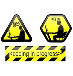 coding in progress vector image vector image