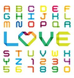 Colorful paper alphabet vector