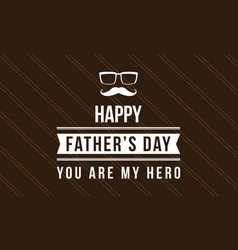 Cute card style father day collection vector