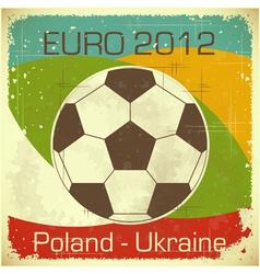 euro 2012 vector image