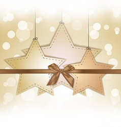 golden star gift card with copy space vector image vector image