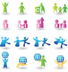 icons people vector image vector image