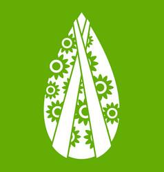 Memorial wreath icon green vector