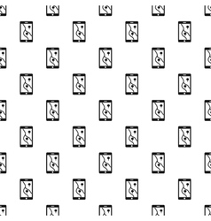 Phone with maps pattern simple style vector