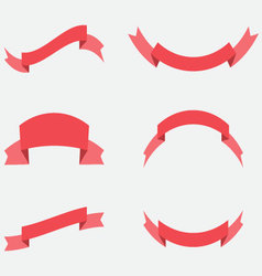 Ribbon decoration red color vector image vector image