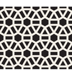 Seamless black and white lines grid pattern vector