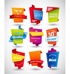 Set of colored labels vector image vector image