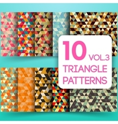 Set of colorful triangle backgrounds vector image vector image
