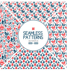 set of seamless pattern graphic elements vector image vector image