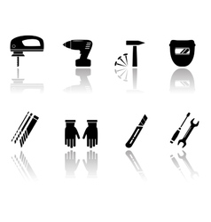 Set of worker equipment icons vector