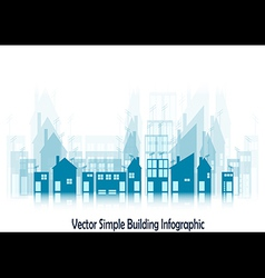 Simple buildings vector image