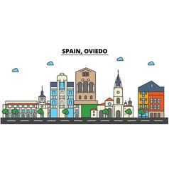 spain oviedo city skyline architecture vector image vector image