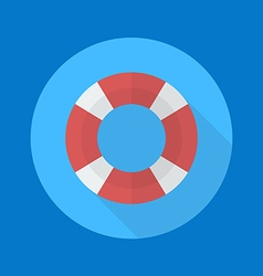 Swimming ring flat icon vector image vector image