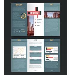 Three fold flyer template vector