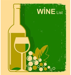 Vintage white wine list background for text vector