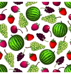 Fruits seamless pattern wallpaper background vector