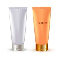 Realistic cosmetic packaging plastic tube vector