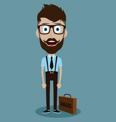 businessman office salesman guy funny cartoon vector image