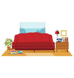 Office couch interior vector