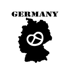 Symbol of germany and map vector