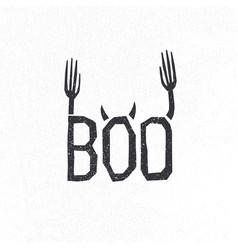 halloween logotype design halloween holiday sign vector image