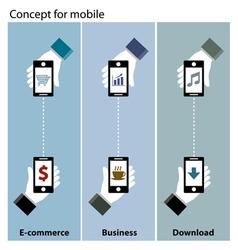 mobile concept e-commerce  business  download vector image