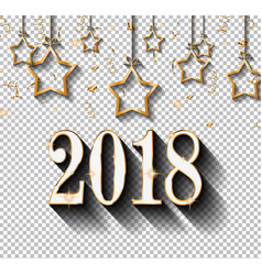 2018 happy new year design for your seasonal vector