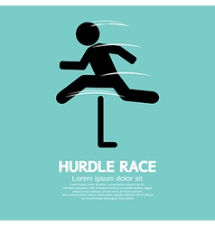 Hurdle race vector
