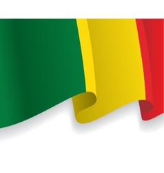 Background with waving mali flag vector