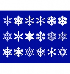 vector snowflakes set vector image
