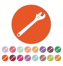 The adjustable wrench icon vector